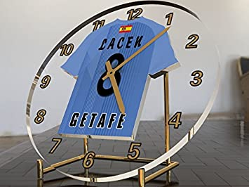 Reloj de sobremesa, diseño de camiseta de fútbol de La Liga española, hombre, Getafe CF: Amazon.es: Deportes y aire libre