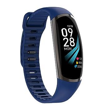 LJSHU Reloj Inteligente Pantalla de Color frecuencia cardíaca presión Arterial Control de oxígeno en Sangre IP67 Impermeable 20 Tipos de Funciones Pulsera ...