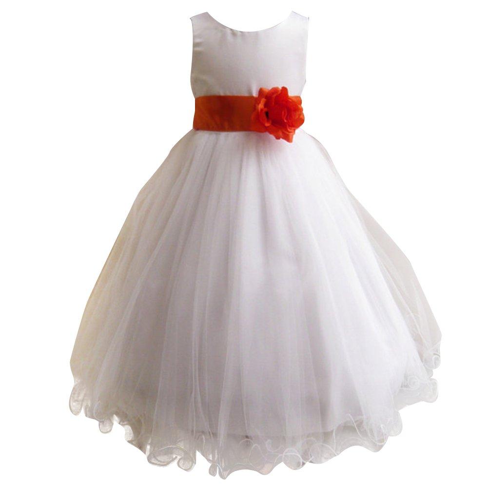 Amazon Free Fisher Flower Girls Dress For Wedding Ruffled