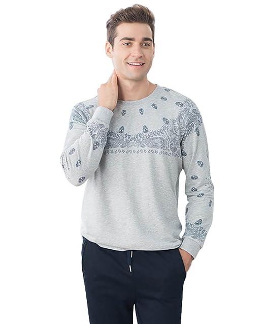 LvRao Hombres y Mujeres Conjuntos de Pijama de Algodón Cómodo | Camisa de Dormir Manga Larga