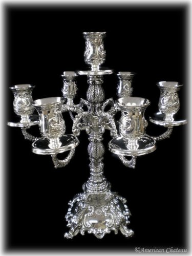 809ef33db Large Ornate 7-Arm Silver Candelabra Candle Holder  Amazon.co.uk  DIY    Tools
