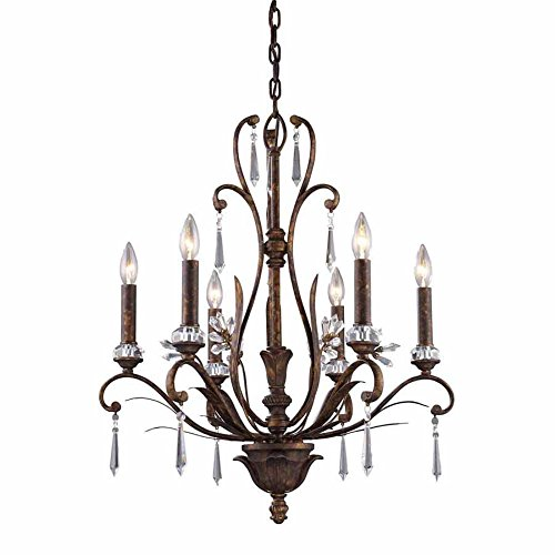 Elk 2183/6 6-Light Chandelier In Burnt Bronze