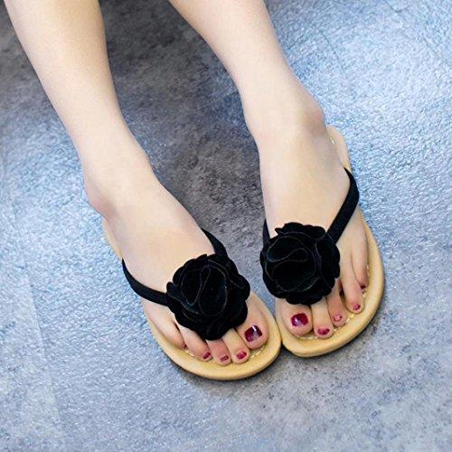 Spiaggia Sandali Donna Scarpe Outdoor Flower Nere Lady Slipper Flat Shoes Da Igemy Leisure UFFPxwT