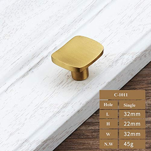 C1011 1 pcs gold Brass Kitchen Cabinet Handles Cupboard Door Pulls Drawer Dresser Knobs European Fashion Furniture Handle Hardware  (color  C1023160)