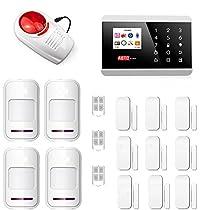 SZABTO Senza fili di GSM intelligente sistema di allarme domestico di sicurezza con il rivelatore e manuale utente per porte e finestre Rivelatore italiano (8218-s)