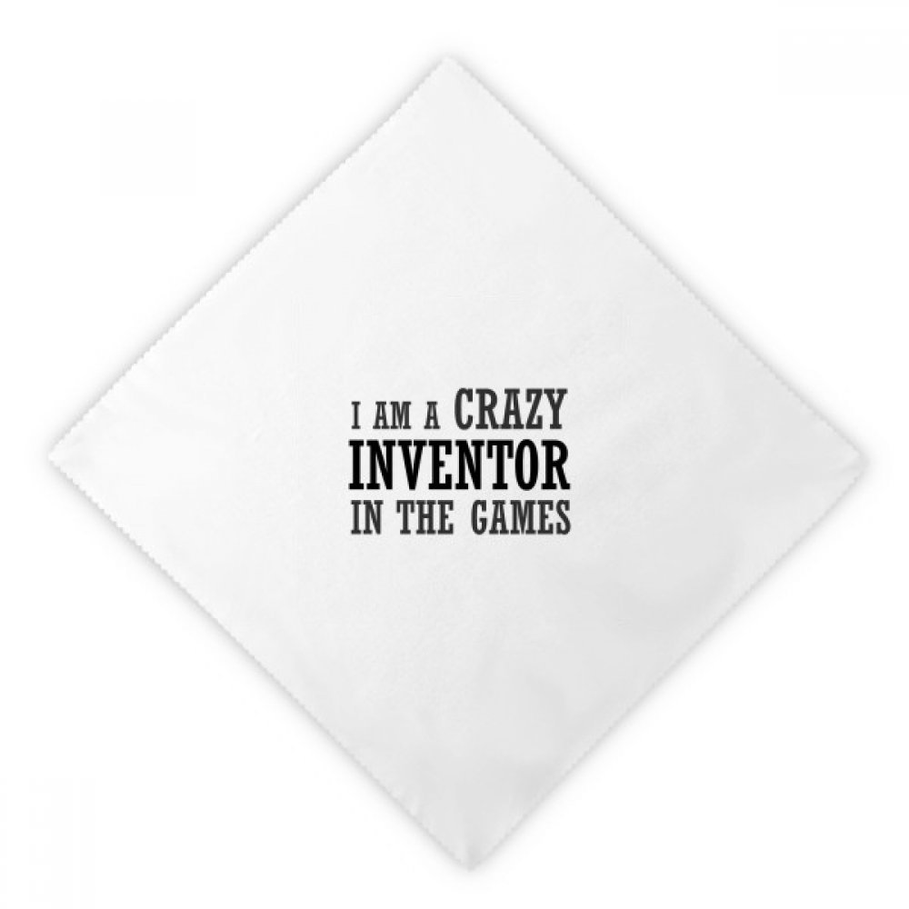 DIYthinker I Am Crazy In The Games Dinner Napkins Lunch White Reusable Cloth 2pcs