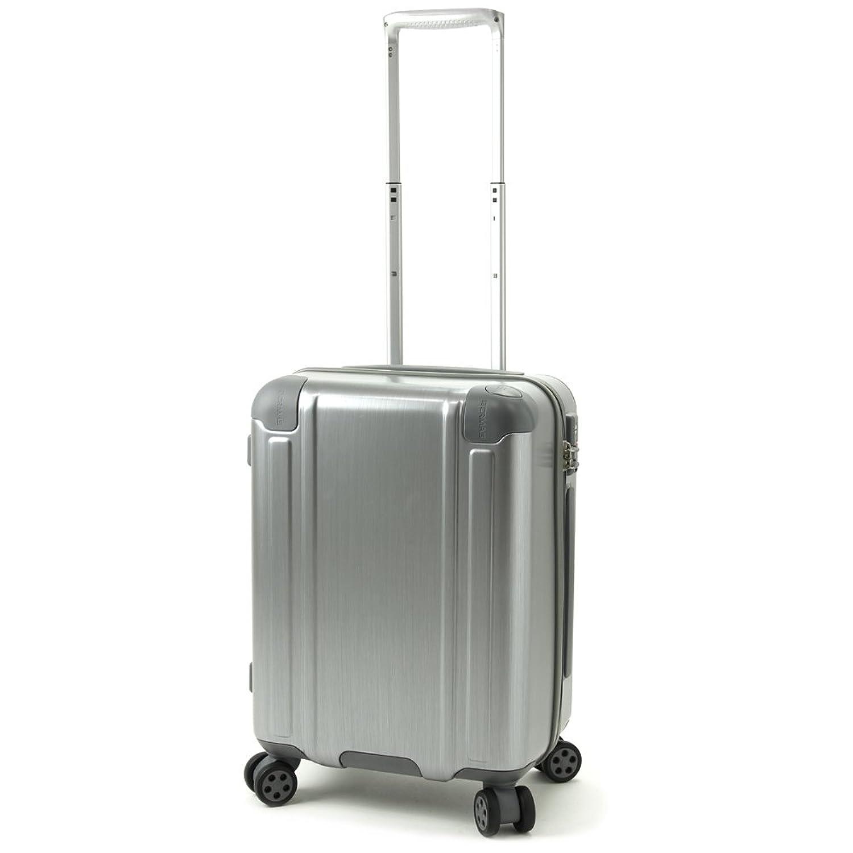BERMAS SQUARE PRO バーマス スクエアプロ 4輪 スーツケース ハードキャリー ファスナータイプ 40L 機内持込 TSAロック付 ストッパー付 シルバー 60241-SV B01NBRQTX8