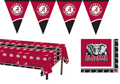 University of Alabama Crimson Tide Party Accessories Kit