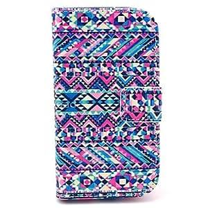 MOFY- Patr—n Alfombra tribal abstracto Caso de cuero PU con ranura para tarjetas y soporte para Samsung Galaxy S3 I8190 mini-