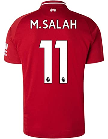 9b507e6b2 Liverpool 2018-2019 Home M Salah  11 Men s Soccer Jersey Color Red