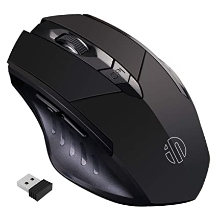 6c9000114f0 inphic Wireless Mouse, Rechargeable 2.4G Ergonomic Wireless Mice 1600DPI  Mini Optical Portable Travel Cordless