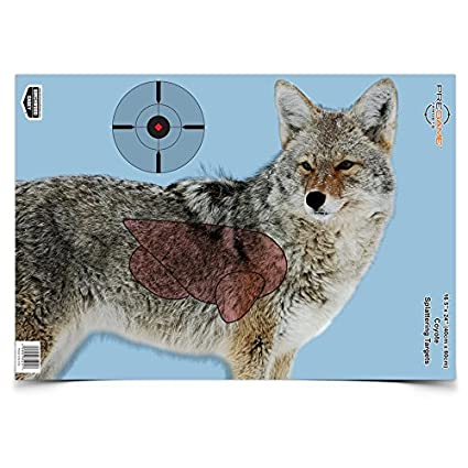 image relating to Printable Animal Targets called Birchwood Casey 35405 Pre Sport Coyote 16.5 x 24 Concentrate, 3-Pack