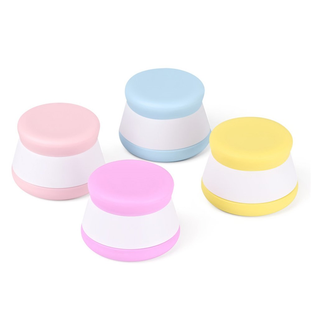 JasCherry 4pcs Stackable Silicone Cosmetic Containers Cream Jar with Sealed Lids, Ideal Storage Pots for Travel, Home and Outdoor (20ml Each Bottle)