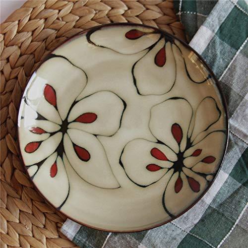 Restaurant supplies Ceramic Tableware Steak Plate Fruit Salad Dessert Tray Soup Bowl Food And Beverage 22x3cm bowl Home Kitchen Supplies from Zjnhl