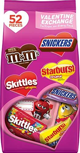M&M'S, SNICKERS, SKITTLES, STARBURST, Valentine's Day Fun Size Variety Mix Candy, 23.88 OZ