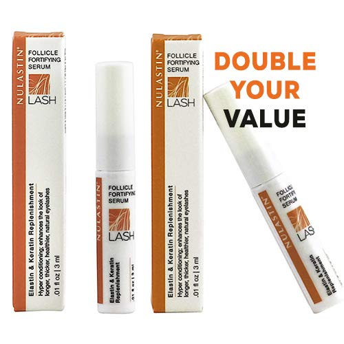 New! LASH 2-PACK with Keracyte Elastin Complex by NULASTIN