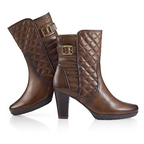 Caprice - Botas de cuero para mujer marrón marrón marrón - pardo