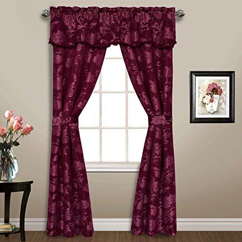 United Curtain 5 Piece Carrington Window Curtain Set, 52 x 84