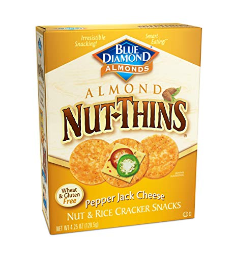(Blue Diamond Almonds Nut Thins Cracker Crisps, Pepper Jack Cheese, 4.25 oz (Pack of 6))