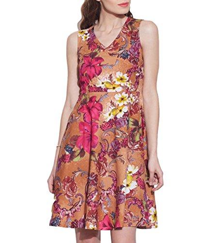 Vêtements pour femmes Robe en coton imprimé, lavable en machine, W-CPD44-1616, Taille-44 pouces