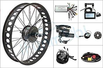 Envío gratuito 48 V 750 W 8 Fun Bafang Motor – casete grasa de buje de bicicleta rueda trasera bicicleta eléctrica conversión KIT 190 mm para bicicleta (24 pulgadas): Amazon.es: Deportes y aire libre