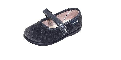 e646bf86fac Merceditas NIÑA Terciopelo Gris Estrellas Velcro ZAPY  Amazon.es  Zapatos y  complementos