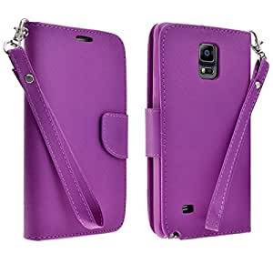 Samsung Galaxy Note 4 Case - Purple Wallet Folio Case for Samsung Galaxy Note 4 (Purple Wallet)