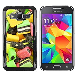 Exotic-Star ( Design Candy Macro ) Fundas Cover Cubre Hard Case Cover para Samsung Galaxy Core Prime / SM-G360