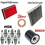 oil filter bosch 3300 - 8USAUTO Tune Up Kit Cabin Air Oil Filters Spark Plugs fit Nissan Murano V6; 3.5L 2003-2004 (VQ35DE Eng)