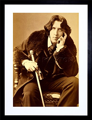 9x7 '' PHOTO OSCAR WILDE POET PLAYWRIGHT LEGEND IRISH FRAMED ART PRINT F97X1754 ()