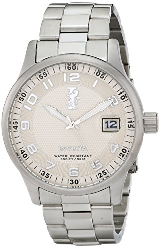 Invicta Men's 15259 I-Force Silver Textured Dial Stainless Steel Watch