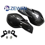 "ZEWAN 7/8"" Handlebar Hand Brush Guards Protector Handguards Assy for Honda Kawasaki Yamaha Suzuki Motocross Motorcycle Off-road Pit Dirt Bike ATV (Carben fiber)"