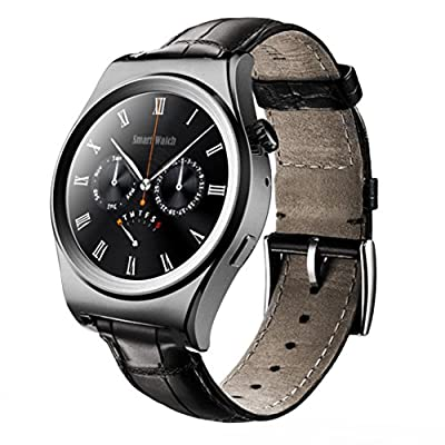 Sinma 1.3 inch Full HD Smart Watch with Fitness Tracker Siri & Heart Rate Monitor Function, Black