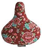 Basil 50329 Sattelüberzug mit Blumenmotiv Scarlet red