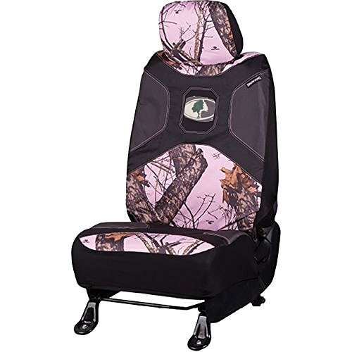Mossy Oak Infinity Pink Camo Print Car Truck Suv Universal Fit Seat Airbag Compatible Low Back Bucket Seat Covers With Head Rest Covers Pair