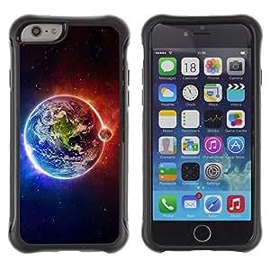 "Pulsar iFace Series Tpu silicona Carcasa Funda Case para Apple (4.7 inches!!!) iPhone 6 , Tierra Luna Fuego Agua Universo Planet Ver"""
