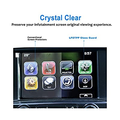 LFOTPP Fit for 2014-2020 2020 Silverado 1500 2500HD 3500HD 8 Inch LTZ MyLink Car Navigation Screen Protector, Tempered Glass Infotainment Center Touch Display Guard: GPS & Navigation