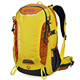 Cheap Outdoor Hiking Daypack Doleesune Waterproof 40L Camping Backpack with Rain Cover 9653 (Yellow, 40l)