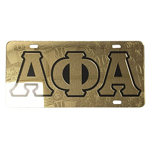 Alpha Phi Alpha Fraternity License Plate Car Tag For Front Back of Car Divine 9 (Car Tag - - Orleans Ford New Veterans