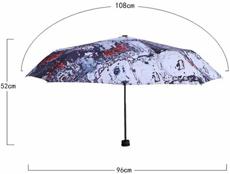 portable UV protection umbrella three folding umbrella sun umbrella folding umbrella Kaxima Sun umbrella 96x52cm ultralight