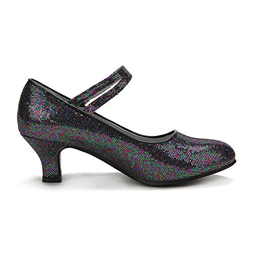 Metallo nero Paillettes ZEVONDA Latino Scarpe Tacco da Alto Donna Ballo in Fibbia Standard Ballroom tdqOaq