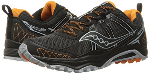 Saucony Men's Grid Excursion tr10 Trail Runner Grey/Black/Orange 8 M US by Saucony (Image #6)