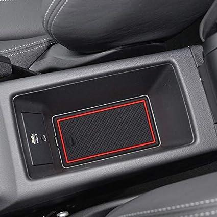 Farbe : Red SYJY-SHOP Auto-Anti-Staub-T/ür-Slot Pad Gummi T/ür Slot Pad Arm-Kasten-Speicher-Matten-Auto-Innent/ür-Cup-Kissen-Innent/ür-Slot Pad Innen Zubeh/ör Anti-Rutsch-Matte for Audi Q2 2017 jetzt