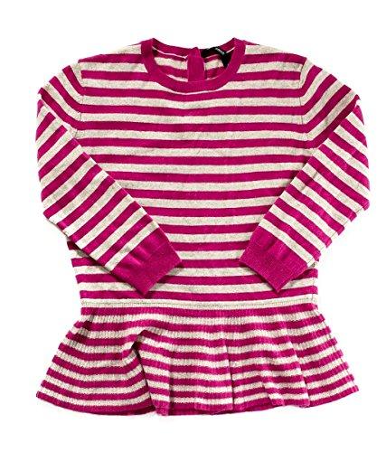 Aqua-Cashmere-Striped-Peplum-Sweater-Petunia-Hemp-Womens-M