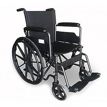 Mobiclinic, Silla de ruedas premium, Plegable, Ruedas traseras grandes extraíbles, Reposapiés y reposabrazos, Asiento de 40 centímetros, S220 Sevilla