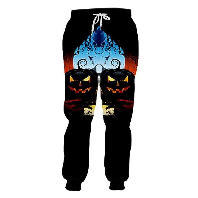BFP-Tenos Pantalones de chándal Negros de Halloween para Hombres ...