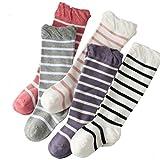 KEKEOCIA 5pcs Unisex Baby Infant Colorful Stripe Leg warmer Toddler Keen High Sock (1-12 month, stripe/ 5pcs)