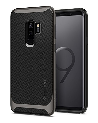 Spigen Neo Hybrid Galaxy S9 Plus Case with Flexible Herringbone Pattern Protection and Reinforced Hard Bumper Frame for Samsung Galaxy S9 Plus (2018) - Gunmetal