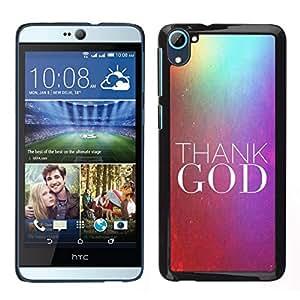 // PHONE CASE GIFT // Duro Estuche protector PC Cáscara Plástico Carcasa Funda Hard Protective Case for HTC Desire D826 / BIBLE Thank God /