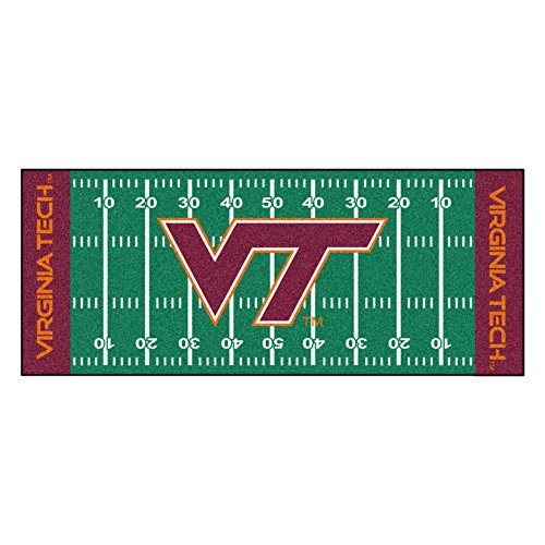 - NCAA Virginia Tech Hokies Football Field Runner Mat Area Rug